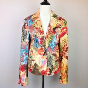 Alberto Makali Blazer Jacket Womens 14 Boho